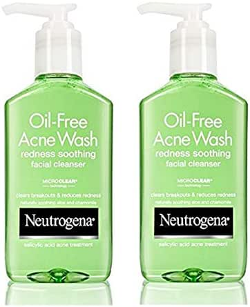 Neutrogena Oil-Free Acne Wash Redness Soothing Facial Cleanser, 6 Ounce (Pack of 2)