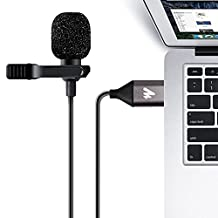 USB Lavalier Microphone-MAONO AU-410 Lapel Mic Hands Free Shirt Collar Clip-on Microphone for PC Computer, Laptop, YouTube, Skype Recording, Live Broadcasting