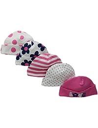 Baby Girls' 5 Pack Caps