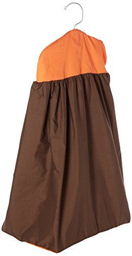 Baby Doll Bedding Solid Two Tone Diaper Stacker, Brown/Orange