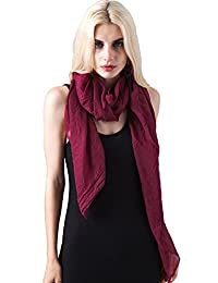 MissShorthair Solid Scarves Womens Shawl Wrap Soft Fashion Scarves Plain Scarf