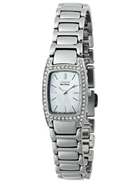 Citizen Women's EW9620-53D Crystal Eco-Drive Stainless Steel Mother-Of-Pearl Dial