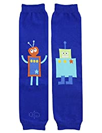 BabyLegs BL Bots-Leg Warmers, Blue, One Size Fits Most; Up Till 10 Years Old
