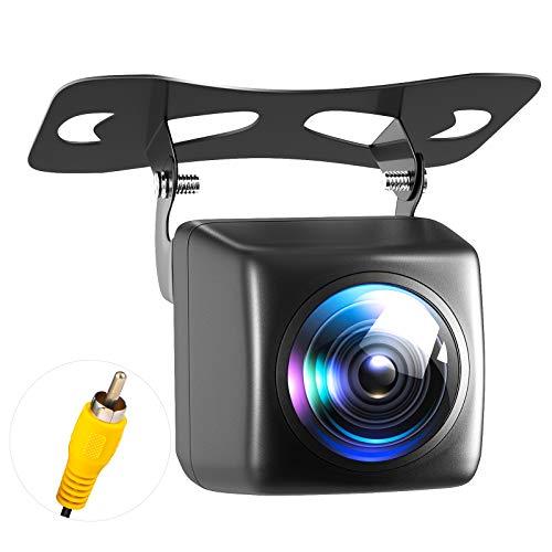 バックカメラ リアカメラ 夜でも見える暗視機能 超 200万画 広角170° IP68防水 防震 防塵 車汎用 RCA接続 ガイドライン表示機能 角度調整可能 (ディスプレイは含まれません)