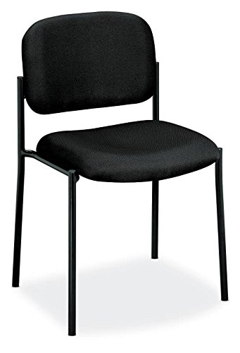 Merveilleux HON Scatter Guest Chair   Leather Stacking Chair Office Furniture, Black  (VL606) Product