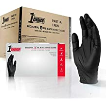 1st Choice Premium Safety Black Nitrile 6 Mil Thick Disposable Gloves, X-Large, Case of 1000 - Industrial, Latex Free