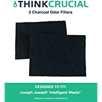 2 Replacements for Joseph Joseph Charcoal Odor Filters Fit Totem Intelligent Wastebaskets & Trash/Garbage Cans, Fits 13 & 16 Gallon, Compatible With Part # 30005, by Think Crucial