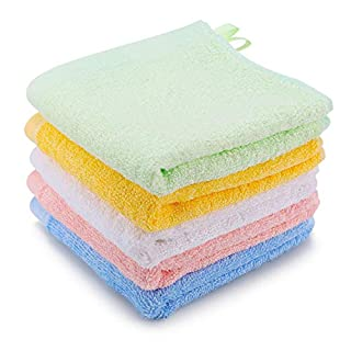 Kyapoo Baby Washcloths Premuim Bamboo Extra Absorbent and Soft for Babies,Newborns, Infants and Toddlers, Perfect for Sensitive Skin Baby Shower Gift 5 Pack