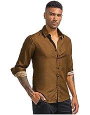 Luckycat Hombre de Camisa fácil de Planchar de Slim Fit para Traje, Business, Bodas, Tiempo Libre – Manga Larga Camisas para Hombres Camisa de Manga Larga