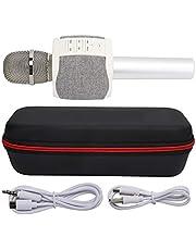 Micrófono Bluetooth Inalámbrico Multifuncional, Micrófono de Sonido Envolvente de Diseño Moderno Adecuado para Uso en el Hogar de Altavoz de Karaoke de Teléfono