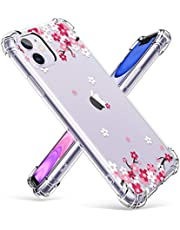 GVIEWIN Compatible with iPhone 11 Case,Clear Flower Design Soft&Flexible TPU Ultra-Thin Shockproof Transparent Bumper Protective Floral Cover Case for iPhone 11 6.1 Inch 2019