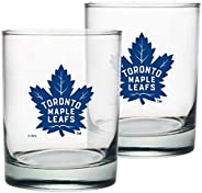 Toronto Maple Leafs Rocks Glass Set