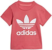 adidas Originals Kid's Trefoil Tee Shirt, Real Pink/Wh