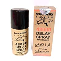 Deadly Shark Power 48000 Delay Spray for Men - Strong Men Spray Prolong Ejaculation