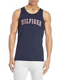 Men's Blue Logo Muscle Sleepwear Tank Shirt