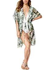 Macy's Inc International Concepts Palm-Print Kimono & Cover-Up (Green)