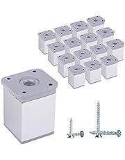 (Pack van … stuks) 6 cm Modern in hoogte verstelbare meubelpoten hoekprofiel: 40 x 40 mm, materialen: aluminium, kunststof. Inclusief schroeven
