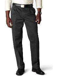 Men's Classic Fit Stretch Signature Khaki Pant-Pleated D3