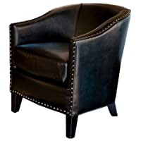 Carlton Black Leather Club Chair