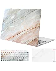 MOSISO MacBook Air 13 inch Case 2019 2018 Release A1932 with Retina Display, Plastic Pattern Hard Shell & Keyboard Cover & Screen Protector Only Compatible with MacBook Air 13,Colored Striped Marble