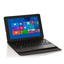 "Visual Land ME89WBK16GB Premier 9-8.9"" Windows 8.1 16GB Tablet with Origami Keyboard Case, Black IPS Screen"