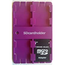 SD Card Organiser Standard Credit Card Size Secure Digital Memory Card Case (Purple)