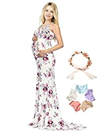 Sannyway Maternity Photography Slip Dress Sleeveless Pregnant Photoshoot Gown