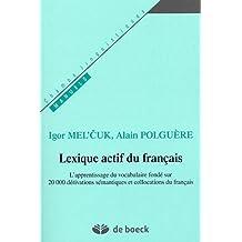 Lexique actif du français champs linguistiq.