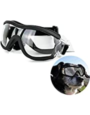 Pet Transparent Windproof Goggles for Medium/Large Dogs, Windproof Dog Sunglasses Waterproof Snowproof and UV Proof
