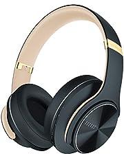 DOQAUS Bluetooth Koptelefoon over ear, [tot 52 uur] Draadloze Koptelefoon met 3 EQ-modi, Dubbele 40 mm Drivers, Geheugen-eiwit-oorkussens en Ruisonderdrukking Geïntegreerde Microfoon voor Smartphone / PC / TV (Asfaltgrijs)