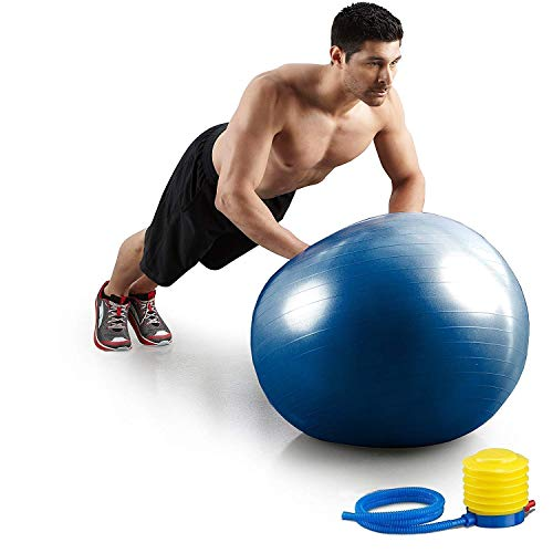 HEMJEX Exercise Gym Ball 65cm with Pump Exercise Equipment for Home, Balance, Gym, Core Strength, Yoga, Fitness – Best