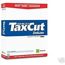 Taxcut Deluxe 2004 Federal Tax Return Software for Windows - by H&R Block
