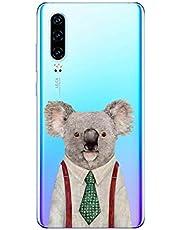 Oihxse Compatible con Huawei P Smart Plus 2019 Funda Cristal Silicona TPU Suave Ultra-Delgado Protector Estuche Creativa Patrón Protector Anti-Choque Carcasa Cover(Pereza A2)