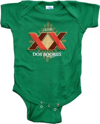 "JTshirt.com-19721-Ann Arbor T-shirt Co. Unisex Baby ""Dos Boobies"" Funny Infant Humor One Piece-B00J0DFP0S-T Shirt Design"