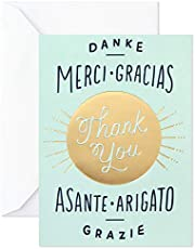 Hallmark Thank You Cards, Danke Merci Gracias (20 Cards with Envelopes) for Bridal Showers, Baby Showers, All Occasion