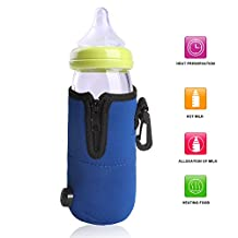 Sidiou Group DC 12V Universal Car Portable Baby Bottle Heater Travel Food Milk Cup Warmer Heater Mini Linear Temperature Programmer Suitable For Using When Driving