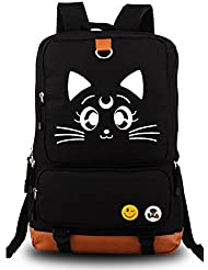 Siawasey® Sailor Moon Anime Luna Cosplay Messenger Bag Backpack Rucksack School Bag