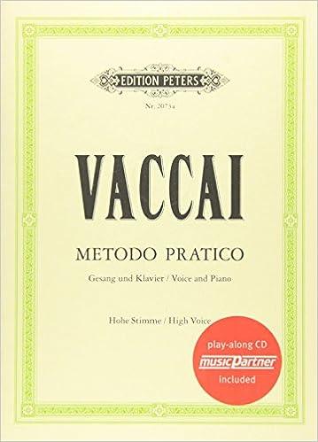 Metodo Pratico High Voice Cd Nicola Vaccai Livres Amazon Fr