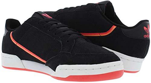 adidas Men's Continental 80 Low Fashion Shoes (Black/Lilac/Orange, Numeric_8_Point_5)