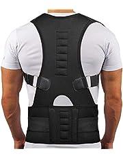 Magnetic Back Posture Corrector Clvicle Spine Corrector Förhindra slouching Justerbar Back Support Brace Back Plat Korsett (Färg: Svart, Storlek: S) Harmonious home