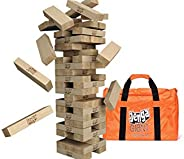 Jenga Giant (Stacks Over 4 Feet) Precision-Crafted, Premium Hardwood Game w/Carry Bag (Authentic Jenga Brand G