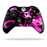 Protective Vinyl Skin Decal Cover for Microsoft Xbox One Controller wrap sticker skins Pink Flames