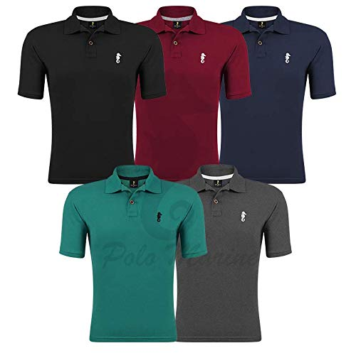 Kit 05 Camisetas Gola Polo - Polo Marine (Kit 04, M)