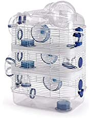 4 Level Sparkle Hamster Habitat Mice Mouse Cage with Large Top Exercise Balll