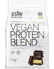 Vegansk proteinblandning från Star Nutrition | Vegetabiliskt proteinpulver | Veganproteiner med vitaminer och mineraler | Vegan, mjölkfri och glutenfri | 1 kg | Choklad