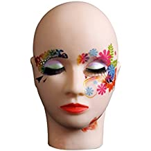 Mannequin Head for lash Extensions Training lashes for Extensions Supplies Mannequin Head Flat Face with Soft Skin for Manikin Lashes Extension Makeup Use by LK LANKIZ