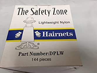 Hairnets Box of 144 - Black by Safety Zone