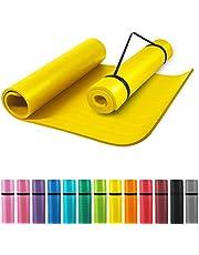 GORILLA SPORTS® Yogamat met draagriem, 190 x 60 x 1,5 cm / 190 x 100 x 1,5 cm, antislip en ftalaatvrij, gymnastiekmat voor fitness en yoga, in 13 kleuren