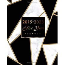 2019-2023 Five Year Planner: Marble Black and White Design, 60 Months Calendar, 5 Year Monthly Planner and Calendar, Planner Journal Writing Diary Notebook, Agenda Yearly Goals Monthly, U.S. Holidays, Holiday Planning