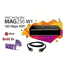 MAG 256W1 IPTV 4K HD STB Set-Top-Box with 150 Mbps buit-in WiFi, Original MAG256W1 by INFOMIR, US Stock, Box only No Subscription